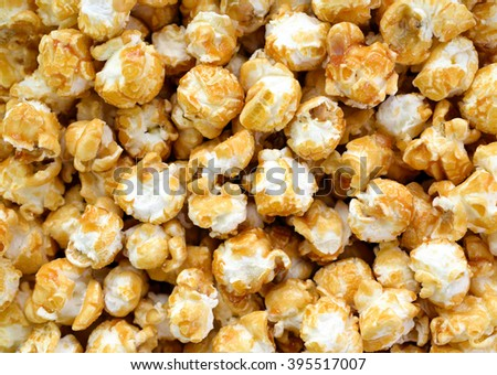 Pop corn close up