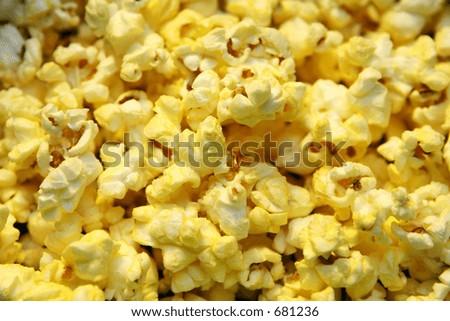 Pop corn up close - stock photo