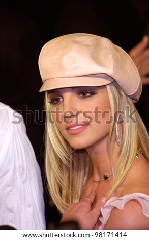 Pop star BRITNEY SPEARS at the world premiere, in Hollywood, of her new movie Crossroads. 11FEB2002.   Paul Smith/Featureflash - stock photo