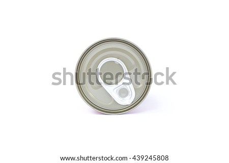 pop-top lid , Manufacturer of metal cans, easy-open lid, pull Beep Beep for packaging for food, water and chemicals. - stock photo