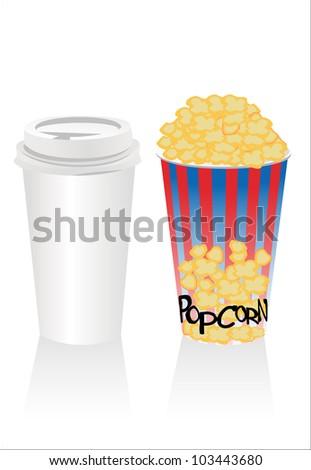popconr and soda - stock photo