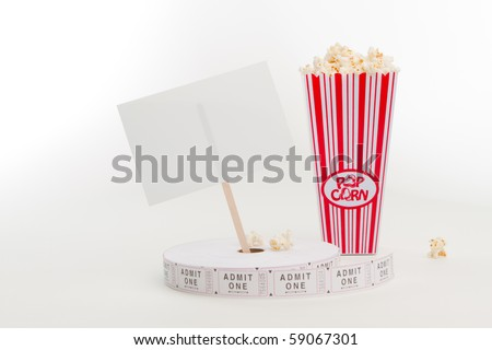 Popcorn and ticket reel