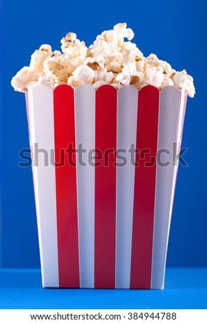 popcorn box - stock photo