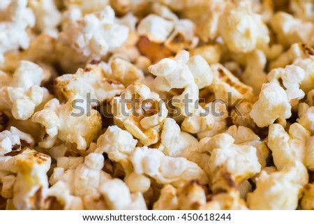 Popcorn Close-up Background - stock photo