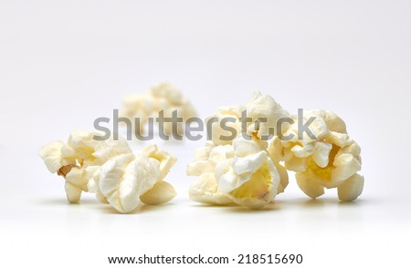 Popcorn close up in shallow depth of field - stock photo