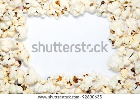 Popcorn frame - stock photo