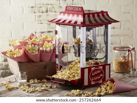 Popcorn Machine - stock photo