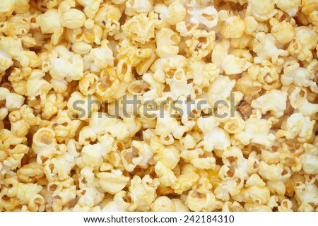 Popcorn, Snacks a background - stock photo