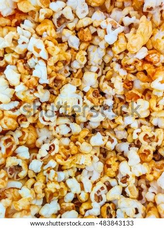 Popcorn texture background.