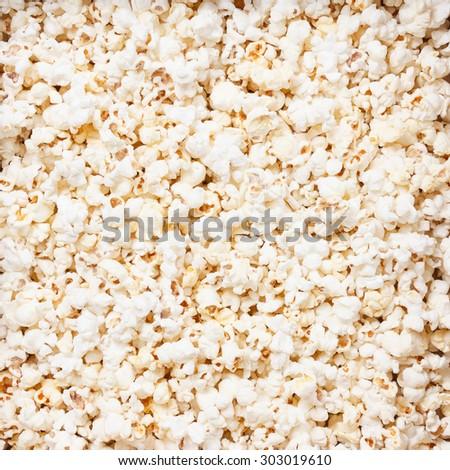 Popcorn texture background. macro studio closeup shoot - stock photo