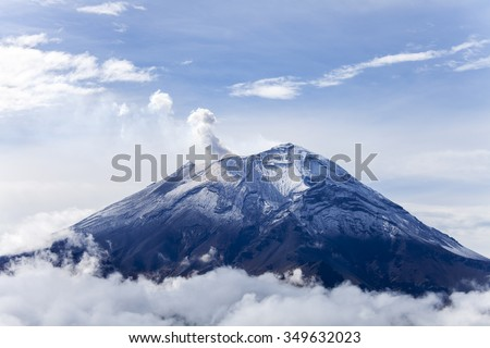 popocatepetl volcano in mexico