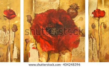 Poppy flowers handmade oil painting on stock illustration 404248396 poppy flowers handmade oil painting on canvas mightylinksfo