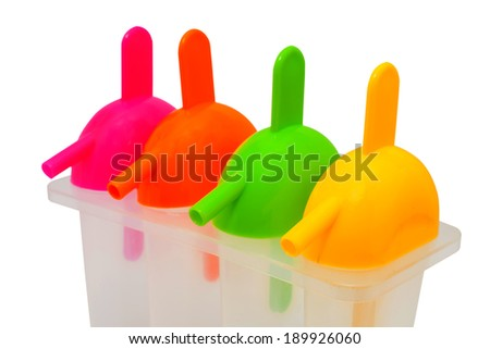 Popsicles ,plastic container to made ice cream