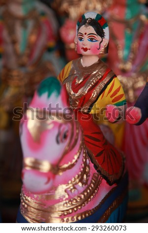 Popular dancing dolls of Tanjore.Selectively focused.