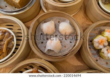 popular Dim Sum in Hong Kong - stock photo