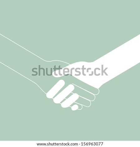 popular handshake connecting teamwork icon concept isolated
