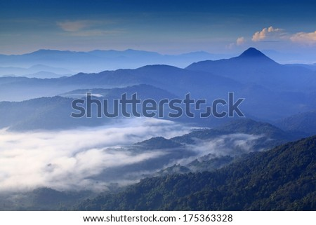 Por Ta Chongdong Summit View Point Patoh chumphon Province, Thailand.  - stock photo