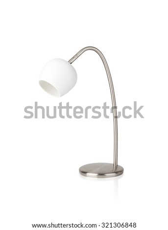 Porcelain table lamp isolated on white background