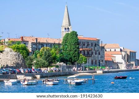 Porec - old Adriatic town in Croatia - stock photo