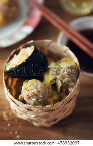 pork and seaweed dumplings