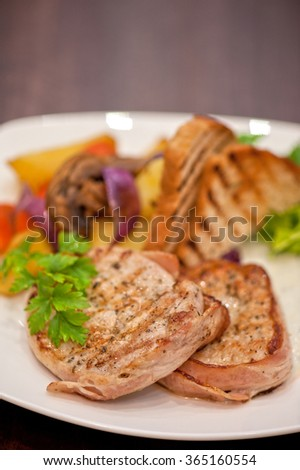 Pork chop with vegetable