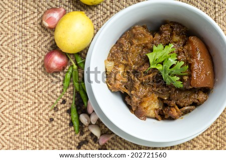 Pork Curry , Kaeng Hung Ley  , delicious food of northern Thailand - stock photo