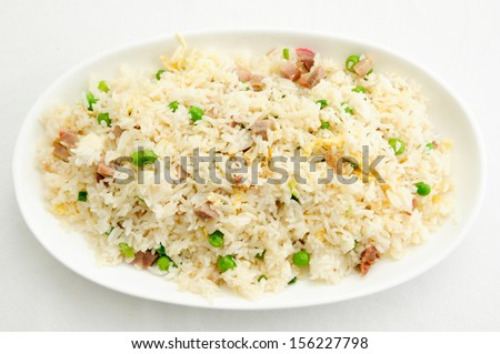 pork fried rice, a take-out favorite