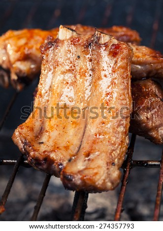 pork ribs with barbecue