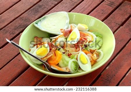 Pork salad - stock photo