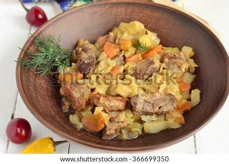 Pork stew with vegetables