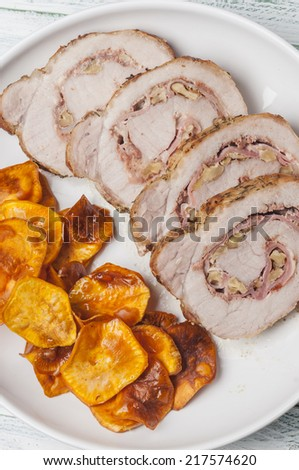 pork tenderloin stuffed with bacon and nuts