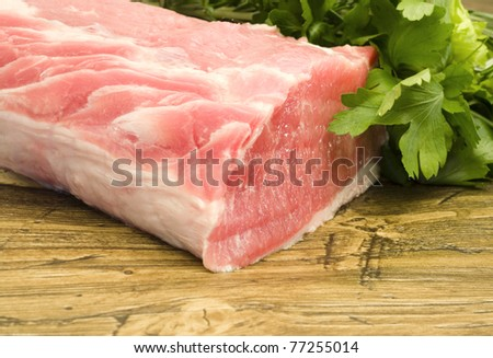 Pork tenderloin with herbs - stock photo