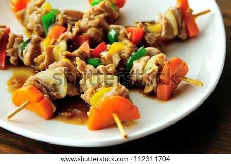 pork with oyster sauce - stock photo