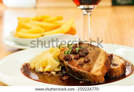 pork with potatoes