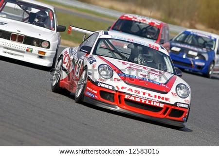 porsche race car - stock photo