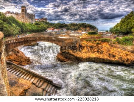 Port area of Biarritz - France, Aquitaine - stock photo