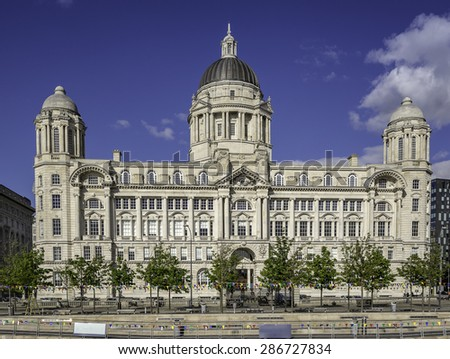 Port Authority building one of the Three Graces in Liverpool