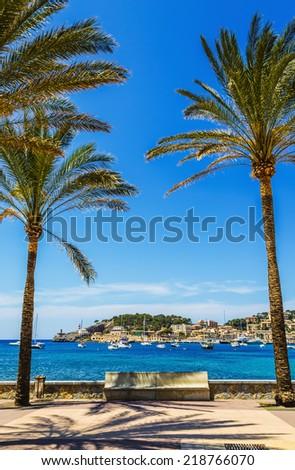 Port de Soller in Mallorca - stock photo