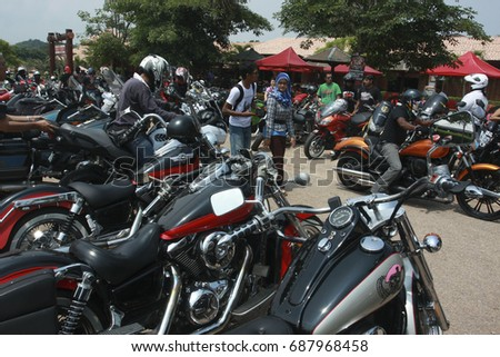 Bangalore July 11 Motorcycles Parked On Stock Photo