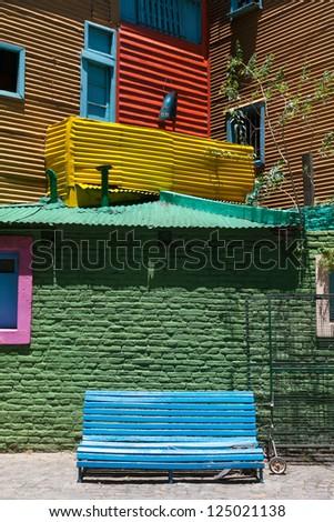 Port district La Boca in Buenos Aires, Argentina - stock photo