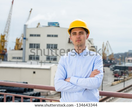 Port Engineer Supervision - stock photo