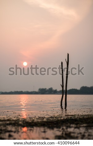 port for small boat in Thailand - stock photo