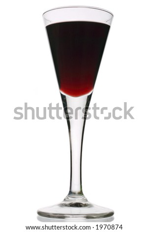 port in a stemmed  glass - stock photo