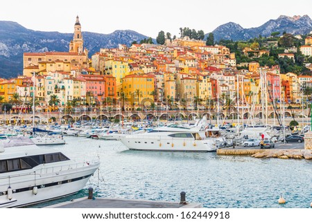 Port in Menton, France