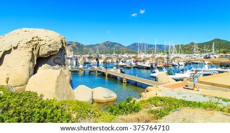 Port in Villiasimius, Sardinia - stock photo