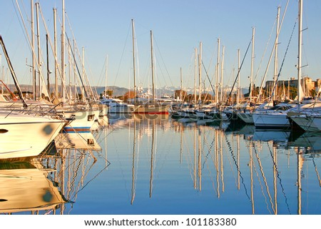 Port of Antibes, France - stock photo