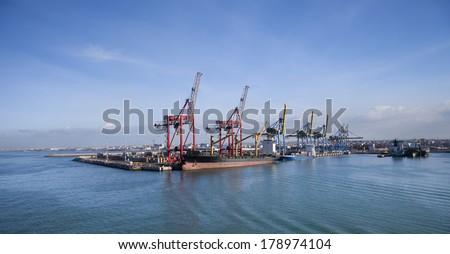 port of Casablanca, Morocco  - stock photo
