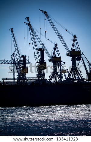 Port of Hamburg - stock photo