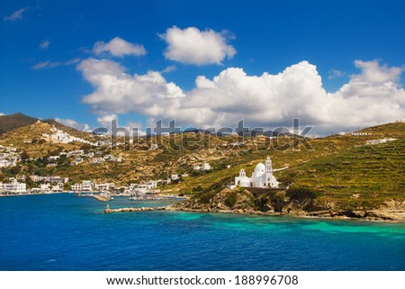 Port of Ios, Greece - stock photo