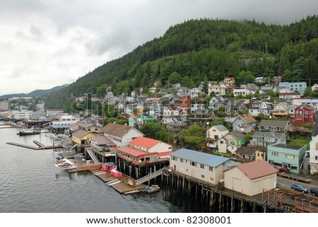 Port of Ketchikan - Tongass National Forest, Alaska - stock photo